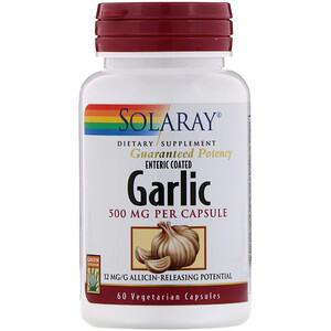 Соларай, Enteric Coated Garlic, 500 mg, 60 Vegetarian Capsules отзывы покупателей