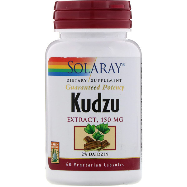Solaray, Extracto de kudzu, 150 mg, 60 cápsulas vegetarianas