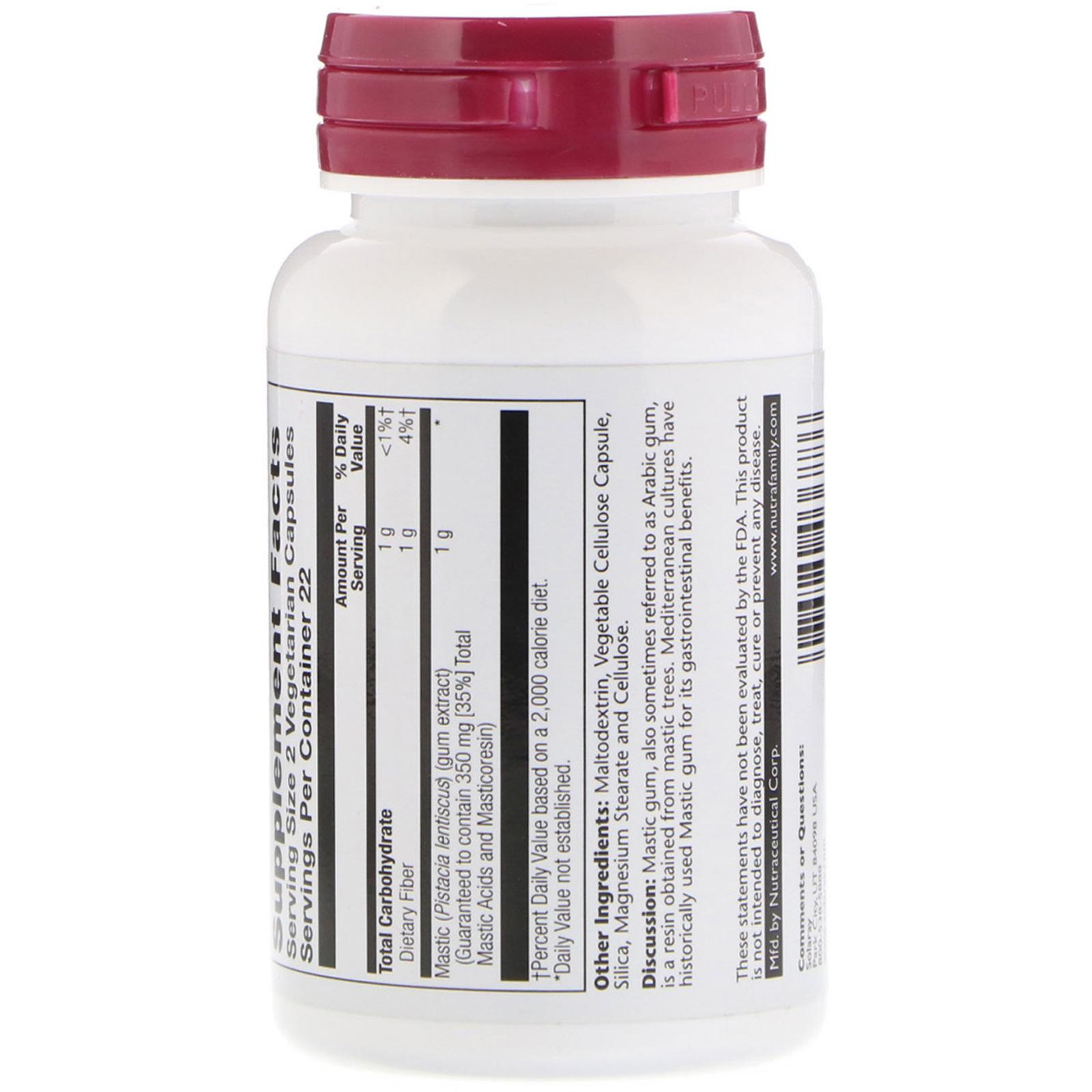 Solaray, Mastic Gum Extract, 500 mg, 45 Vegetarian Capsules - iHerb com
