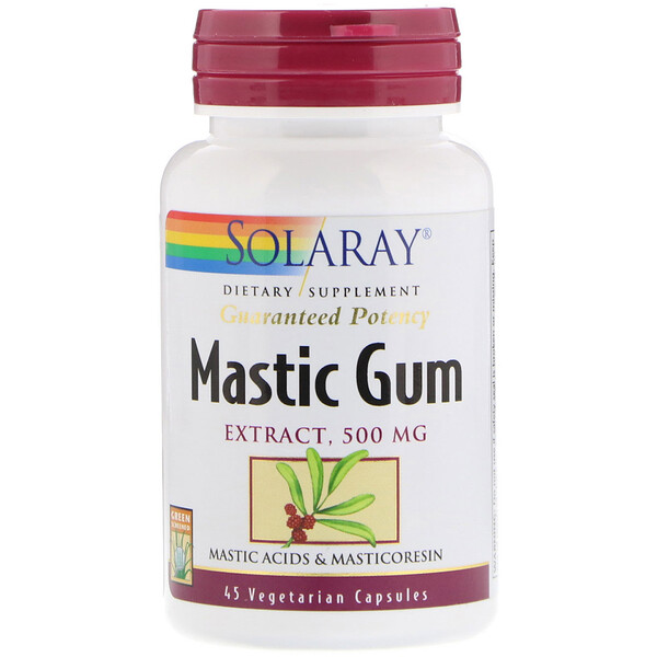 Solaray, Mastic Gum Extract, 500 mg, 45 Vegetarian Capsules