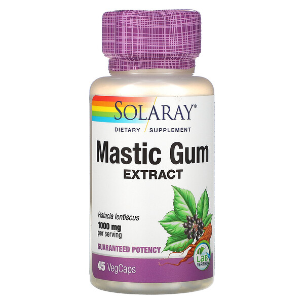 Solaray, Mastic Gum Extract, 1,000 mg, 45 VegCaps