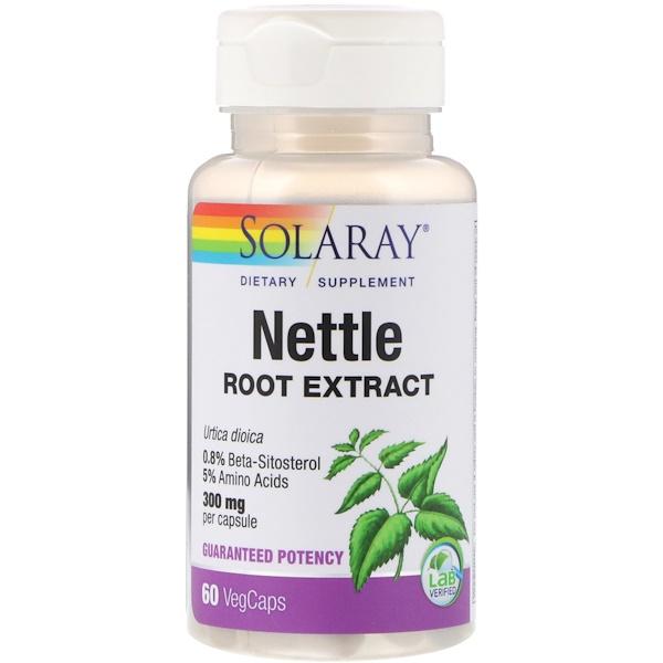 Solaray, Nettle Root Extract, 300 mg, 60 VegCaps