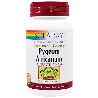 Solaray, Pygeum Africanum Extract, 50 mg, 60 Capsules
