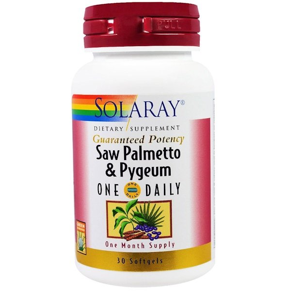Solaray, Saw Palmetto & Pygeum, 30 Softgels (Discontinued Item)