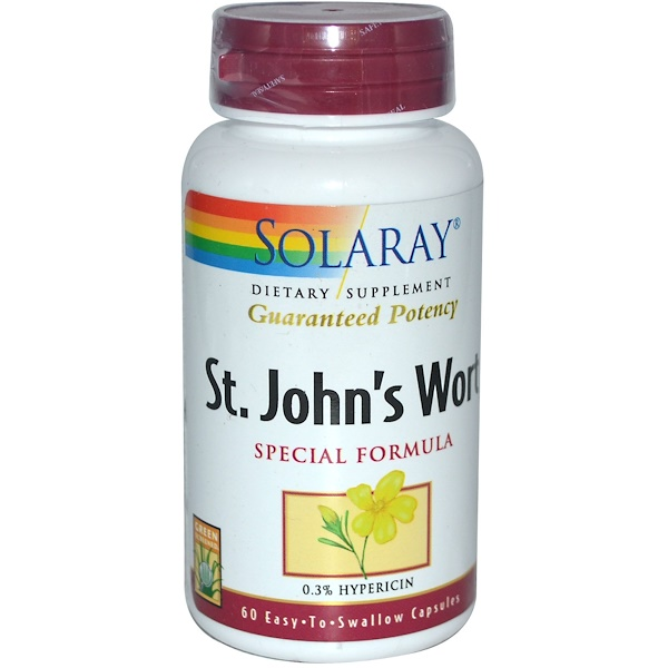 Solaray, St. John's Wort, Special Formula, 60 Easy-To-Swallow Capsules (Discontinued Item)