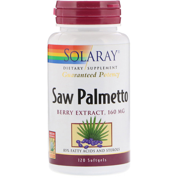 Solaray, Saw Palmetto Berry Extract, 160 mg, 120 Softgels