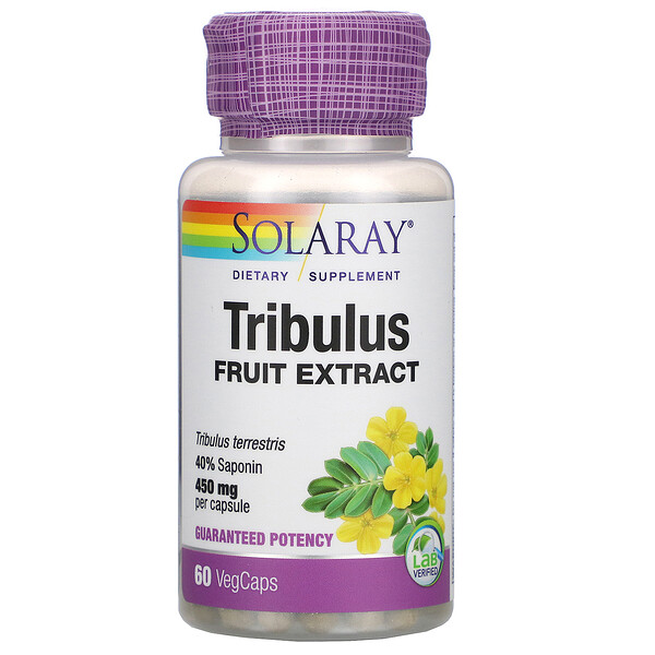 Solaray, Tribulus Fruit Extract, 450 mg, 60 VegCaps