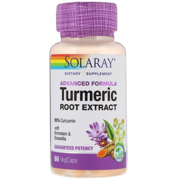 Solaray, Advanced Formula Turmeric Root Extract, 60 VegCaps (Discontinued Item)