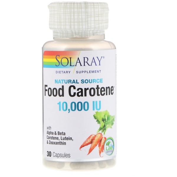 Solaray, 食用胡蘿蔔素,天然來源,10000國際單位,30粒