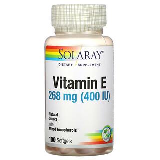 Solaray, витаминE, 268мг (400МЕ), 100капсул