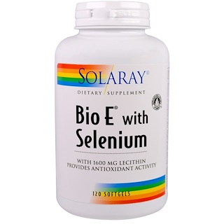 Solaray, Bio E with Selenium, 120 Softgels
