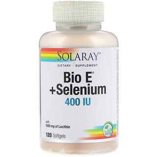 Solaray, Bio E + Selen, 400 IE, 120 Softgels