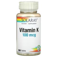 Solaray, 維生素 K,100 微克,100 片