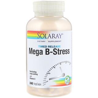 Solaray, Mega B-Stress, Timed-Release, 240 VegCaps