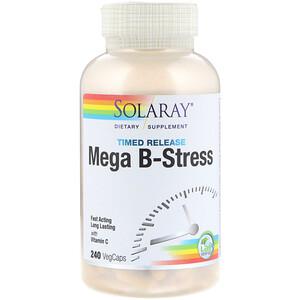 Соларай, Mega B-Stress, Timed-Release, 240 VegCaps отзывы