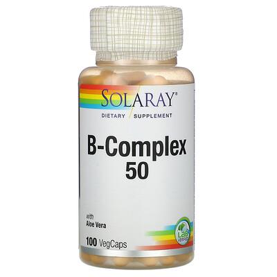 Solaray B-Complex 50, 100 капсул с оболочкой из ингредиентов растительного происхождения