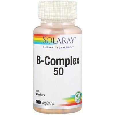 Купить B-Complex 50, 100 капсул с оболочкой из ингредиентов растительного происхождения