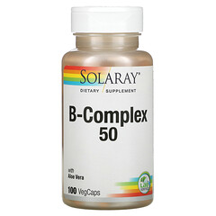 "Solaray, B-Complex ""50"" 複合維生素 B 素食膠囊,100 粒裝"