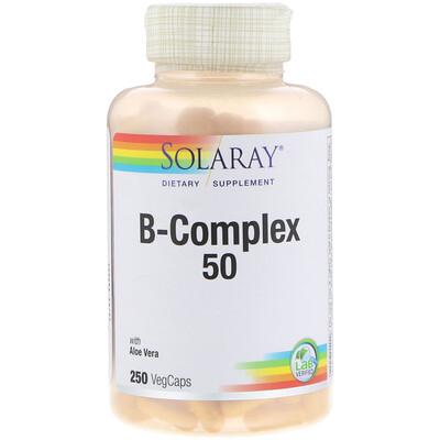 Купить Solaray B-Complex 50, 250вегетарианских капсул