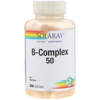Solaray, فيتامين B المركب 50، 250 كبسولة نباتية
