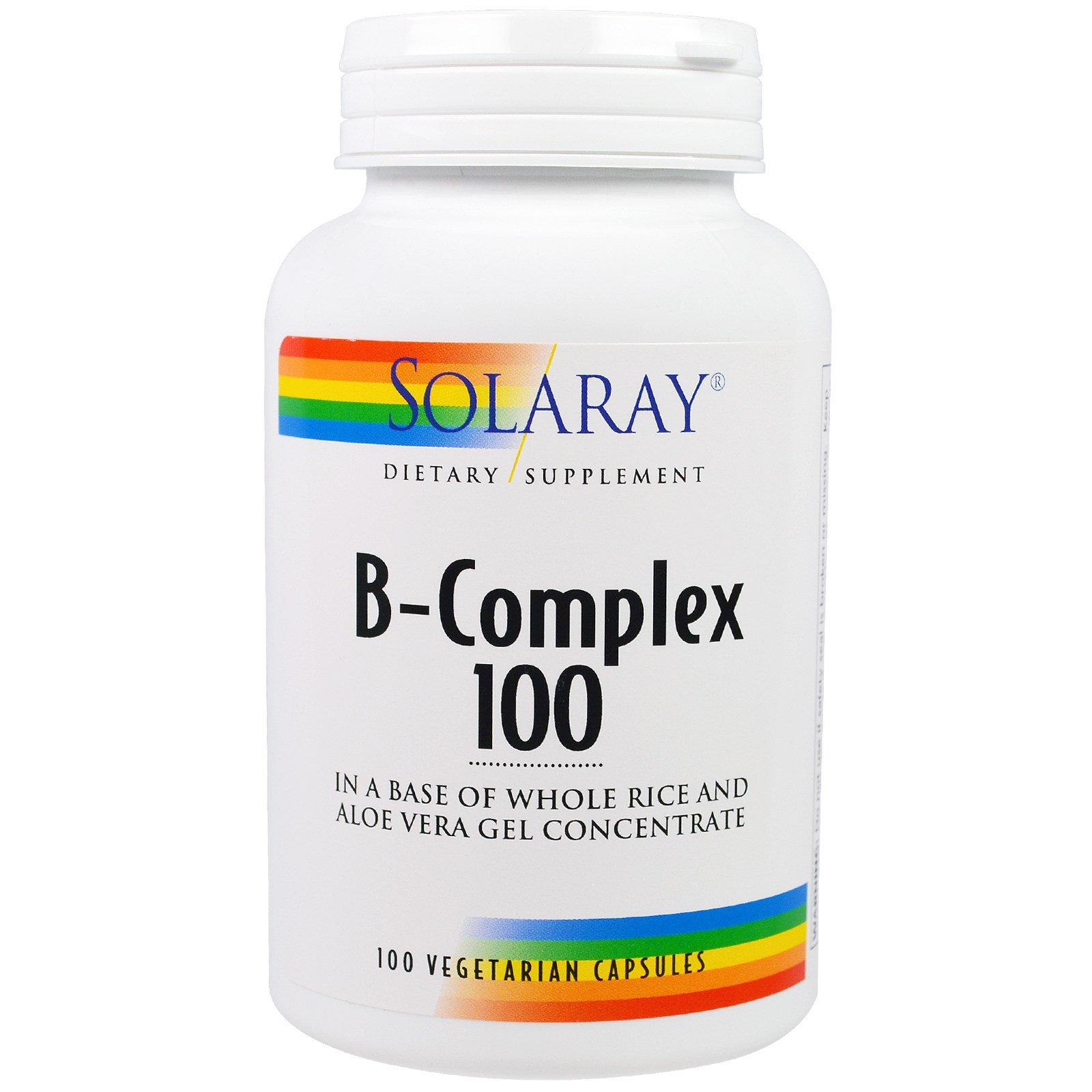 Solaray, B-комплекс 100, 100 вегетарианских капсул