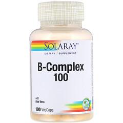 Solaray, 複合維生素B 100, 100 粒植物膠囊