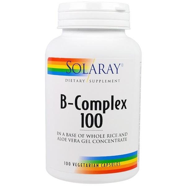 Solaray, Complejo -B 100, 100 cápsulas vegetarianas