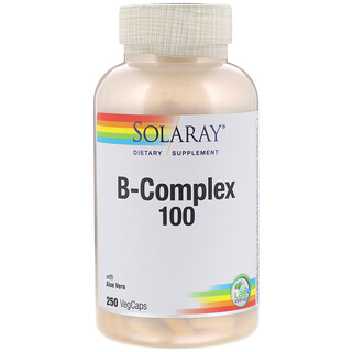 Solaray, B-Complex 100 with Aloe Vera, 250 VegCaps
