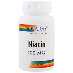 Solaray, ナイアシン、100 mg、ベジキャップ100粒