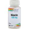 Solaray, النياسين، 100 ملغ، 100 كبسولة نباتية