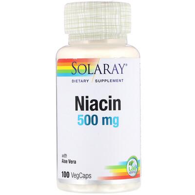 Купить Solaray ниацин, 500 мг, 100 капсул
