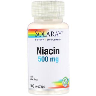 Solaray, Niacin, 500 mg, 100 VegCaps