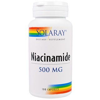 Solaray, Niacinamide, 500 mg, 100 Capsules