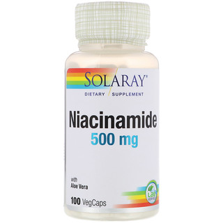 Solaray, Niacinamide, 500 mg, 100 VegCaps