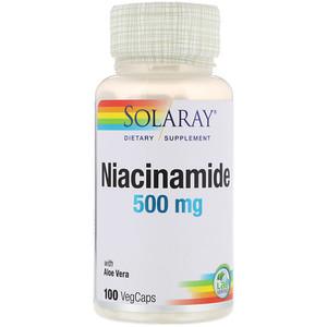 Соларай, Niacinamide, 500 mg, 100 VegCaps отзывы