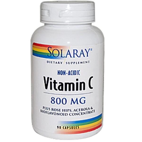 Solaray, Vitamin C, 800 mg, 90 Capsules (Discontinued Item)