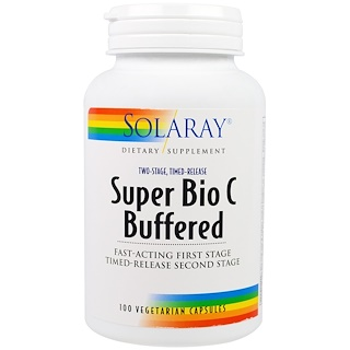 Solaray, Super Bio C Buffered, 100 Vegetarian Capsules