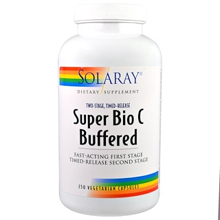 Solaray, Super Bio C Buffered, 250 Vegetarian Capsules