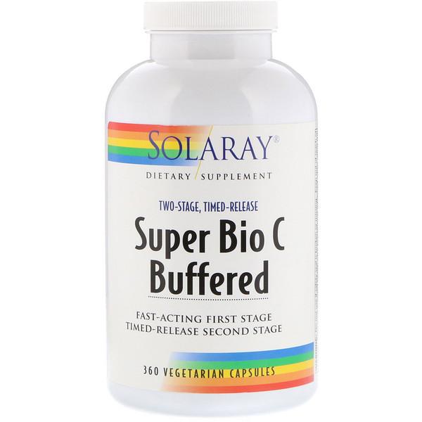 Solaray, Super Bio Vitamin C Buffered, 360 Vegetarian Capsules