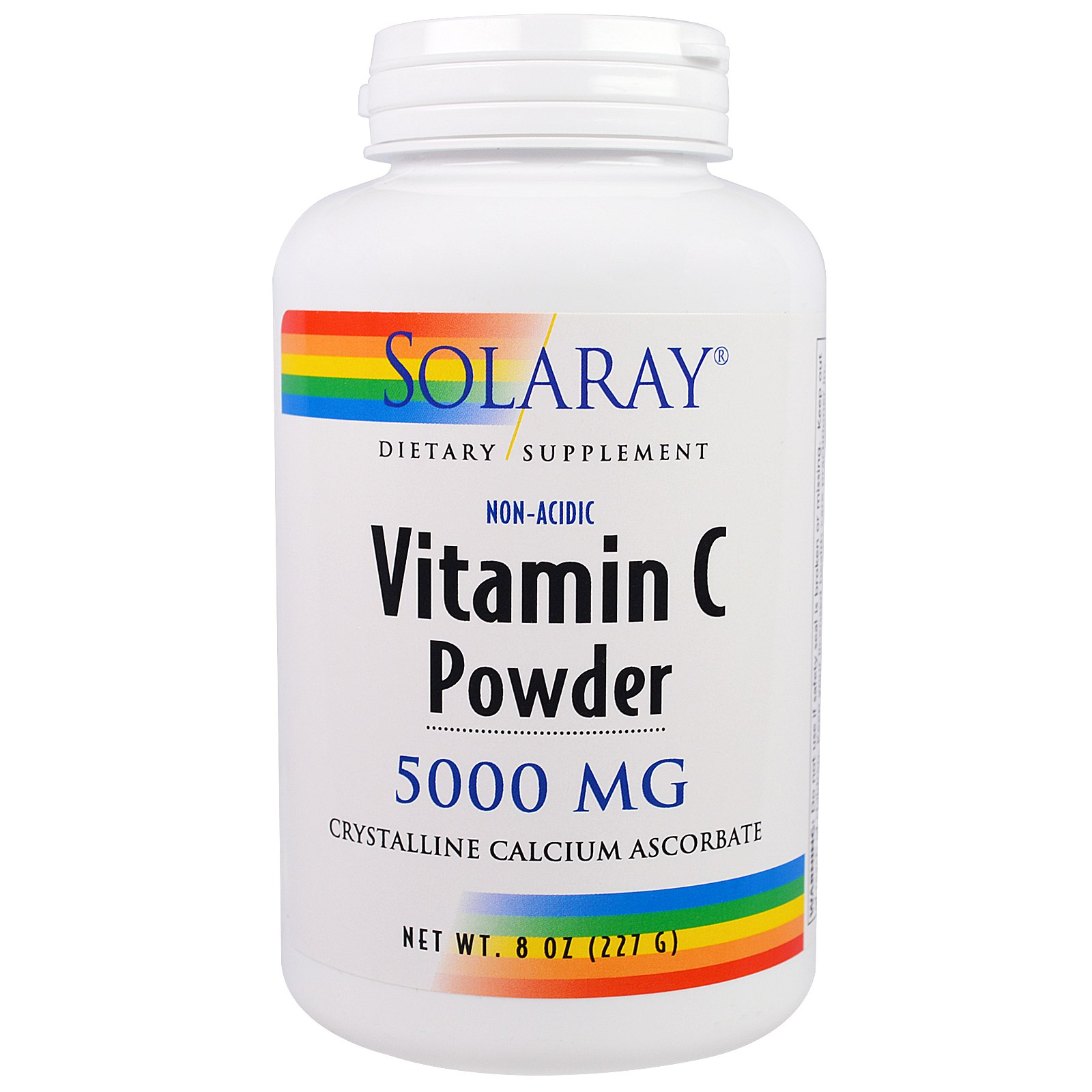 Solaray, Vitamin C Powder, 5,000 mg, 8 oz (227 g) - iHerb.com