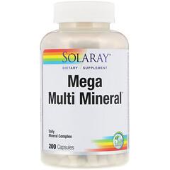 Solaray, メガマルチミネラル, 200錠