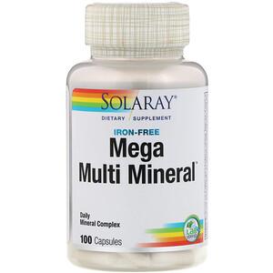 Соларай, Mega Multi Mineral, Iron Free, 100 Capsules отзывы
