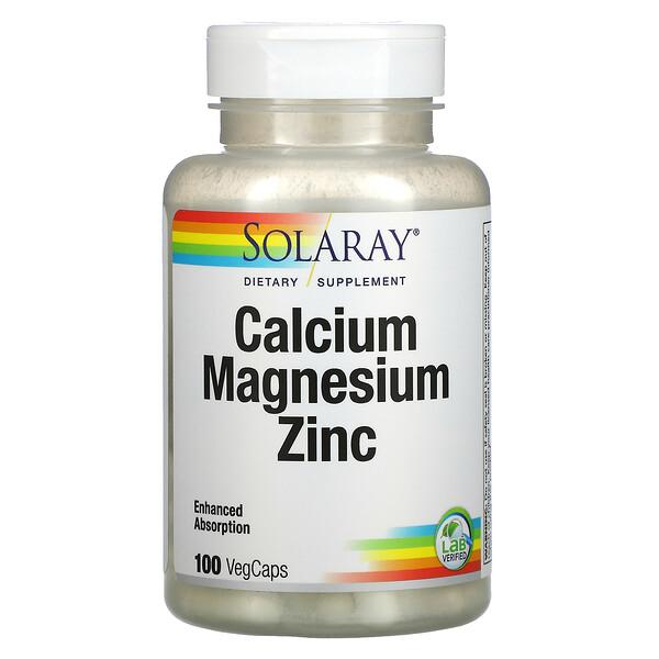 Calcium Magnesium Zinc, 100 VegCaps