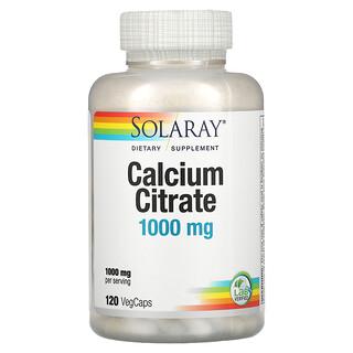 Solaray, Calcium Citrate, 250 mg, 120 VegCaps