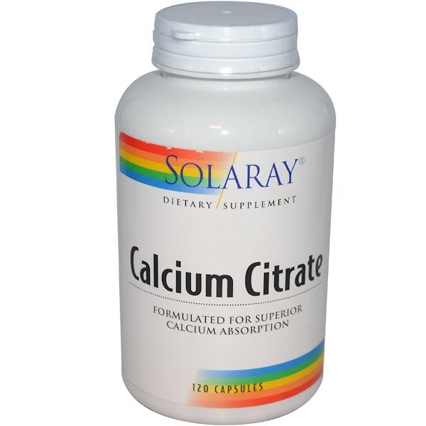 Solaray, Calcium Citrate, 120 Capsules (Discontinued Item)