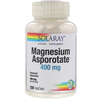 Solaray Magnesium Asporotate, 400 mg, 120 VegCaps