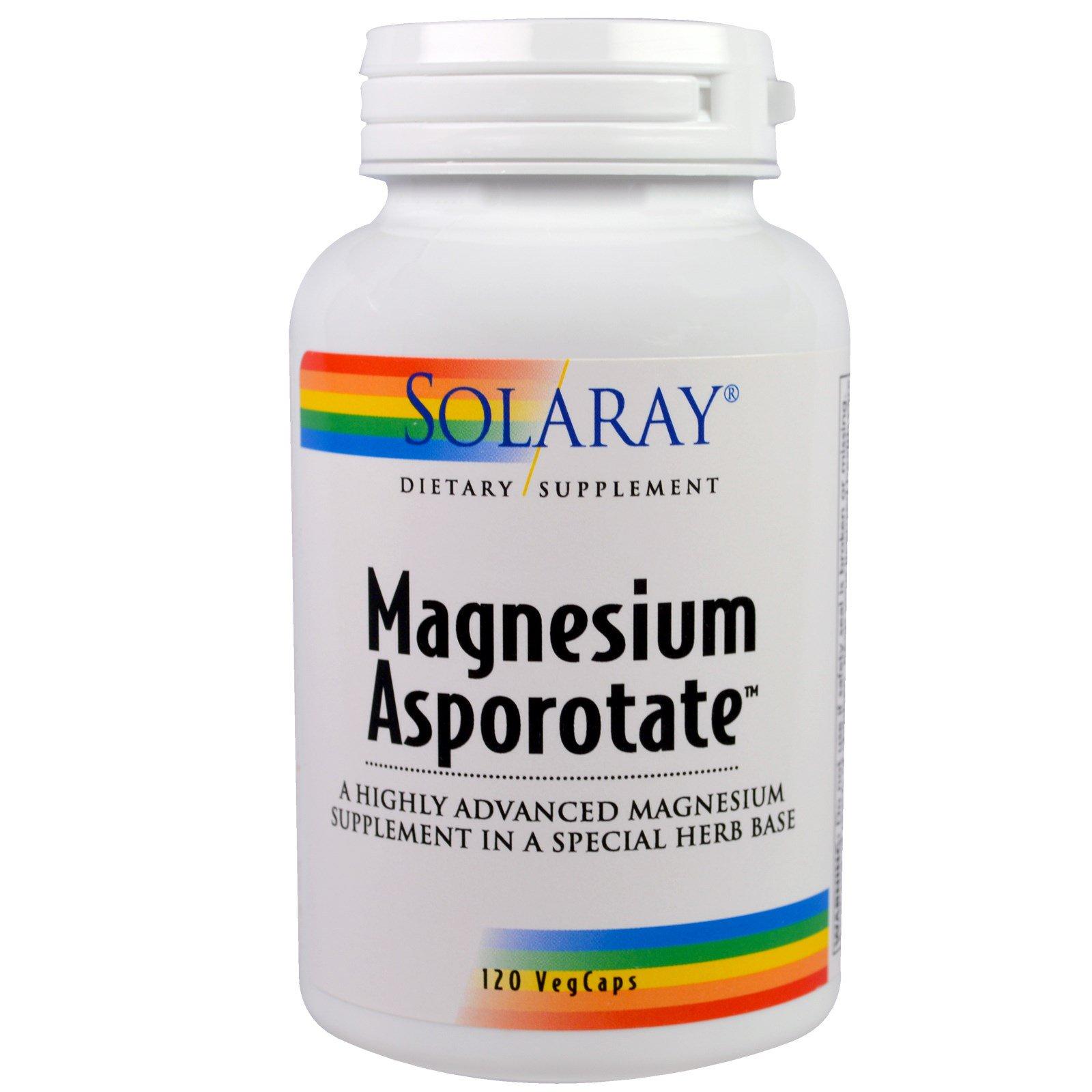 Solaray, Magnesium Asporotate, 120 вегетарианских капсул