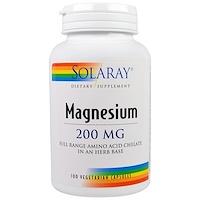 Магний, 200 мг, 100 вегетарианских капсул - фото