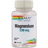 Solaray, Magnesium, 200 mg, 100 VegCaps
