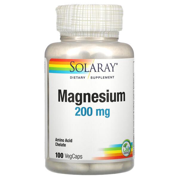 Magnesium, 200 mg, 100 VegCaps